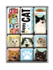 Happy Cats Magnet Set