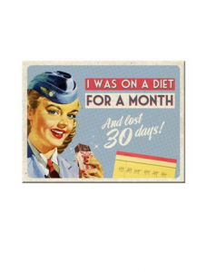 On A Diet for a Month Magnet
