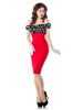 Belsira Vintage Pencil Kleid Rot