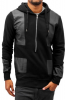 JUST RHYSE Black In Black Zip Hoody Black