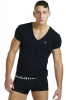 L´HOMME INVISIBLE ORGANIC COTTON T-Shirt V-Ausschnitt slim fit
